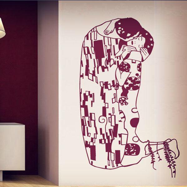 Stickers muraux: Klimt Le Baiser