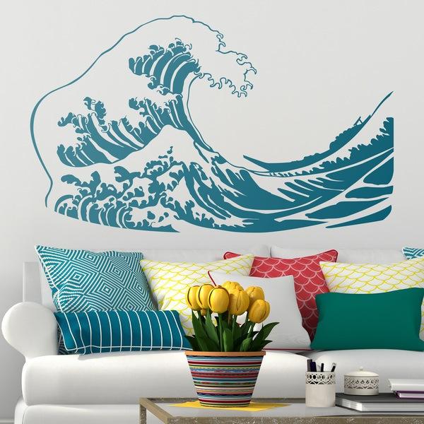 Stickers muraux: La grande vague de Kanawa