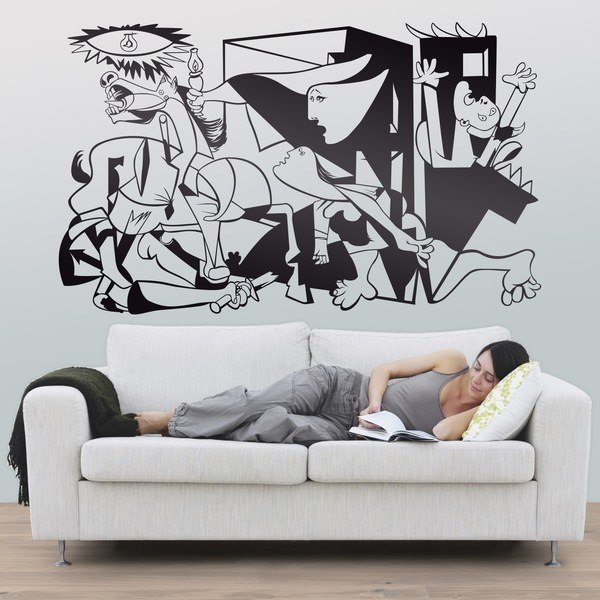 stickers muraux pop art et art classique. Black Bedroom Furniture Sets. Home Design Ideas