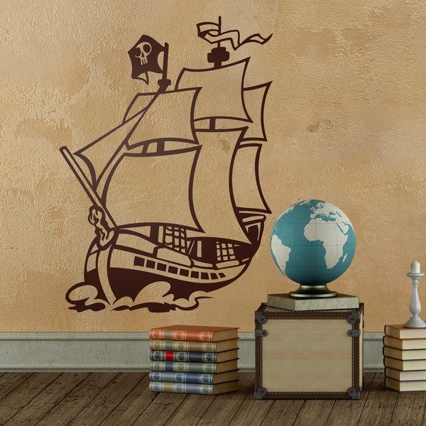 Stickers pour enfants: bateau pirate