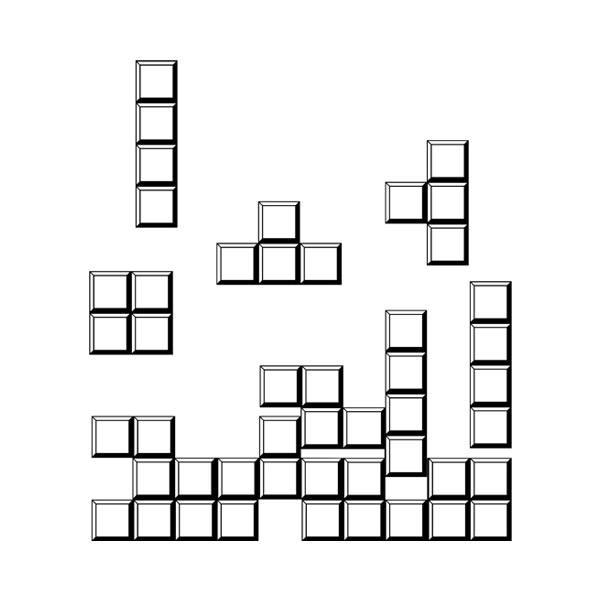 Stickers muraux: Block puzzle