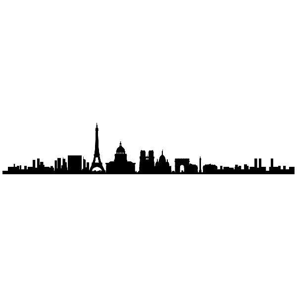 Stickers muraux paris skyline - Stickers muraux paris ...