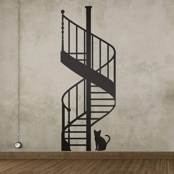 Stickers muraux: escalier en colimaçon