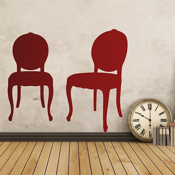 Stickers muraux: Deux chaises vintage