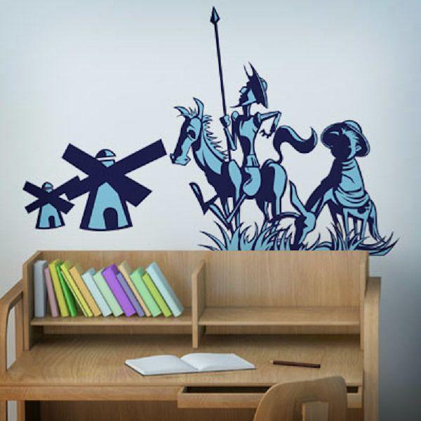 Stickers muraux: Don Quijote y Sancho Panza
