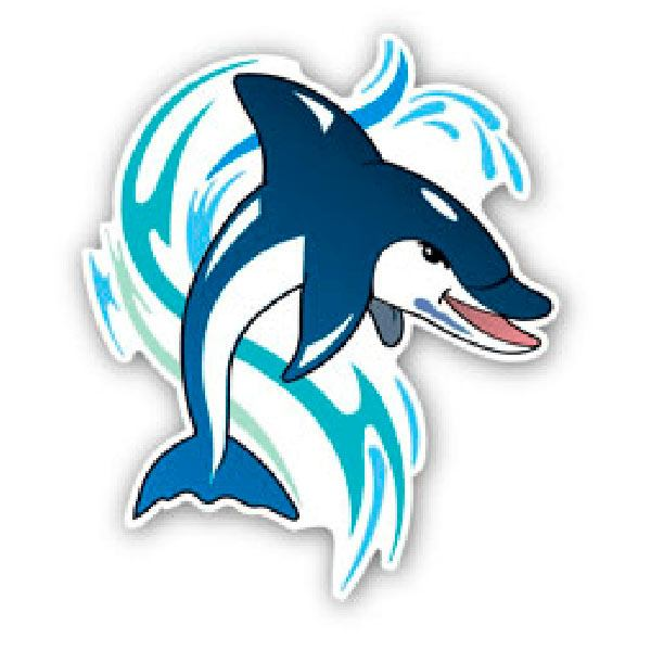 Autocollants: Dolphin 1