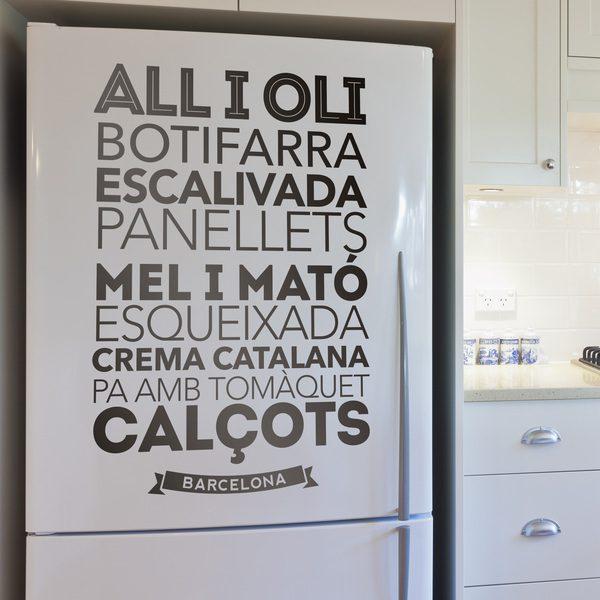 Stickers muraux: Gastronomie à Barcelone