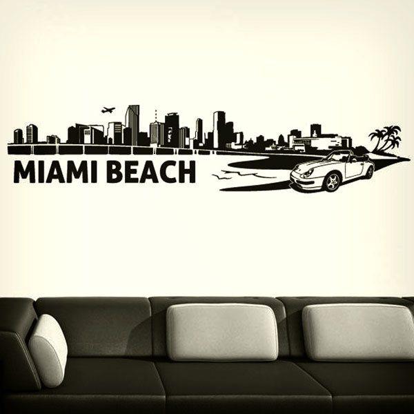Stickers muraux: Miami Skyline