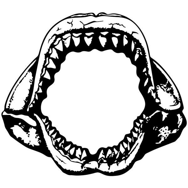 Stickers muraux: Mâchoires de Requin
