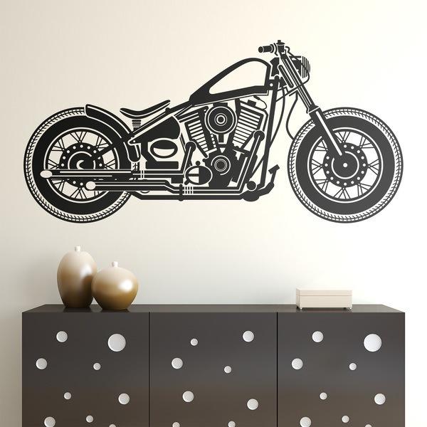 Stickers muraux: Harley Motorbike