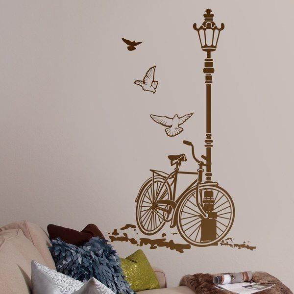 Stickers muraux: Vélos et lampe