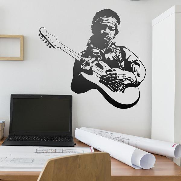 Stickers muraux: Jimi Hendrix
