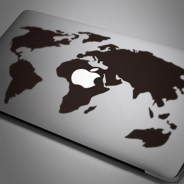 Autocollants: Carte du monde