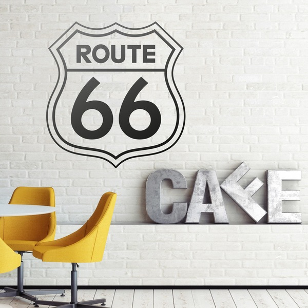 Stickers muraux: Route 66 signe
