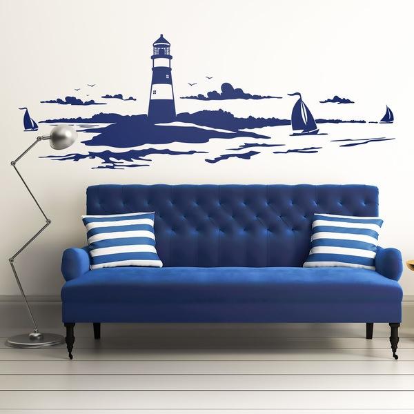 Stickers muraux: phare maritime