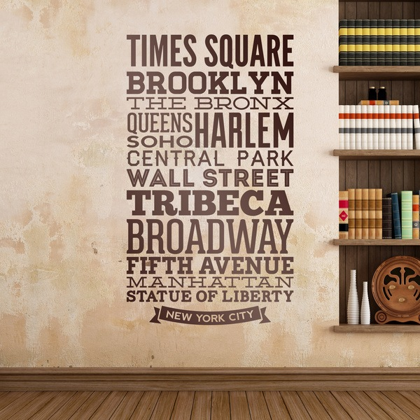 Stickers muraux: Typographiques rues de New York