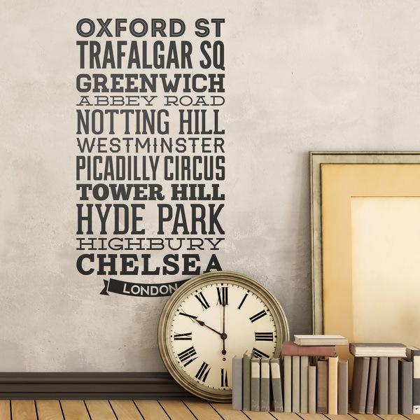 Stickers muraux: Typographiques rues de Londres