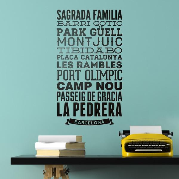 Stickers muraux: Typographique des rues de Barcelona