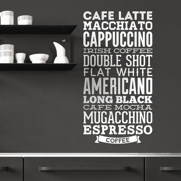 Stickers muraux: Variétés de café