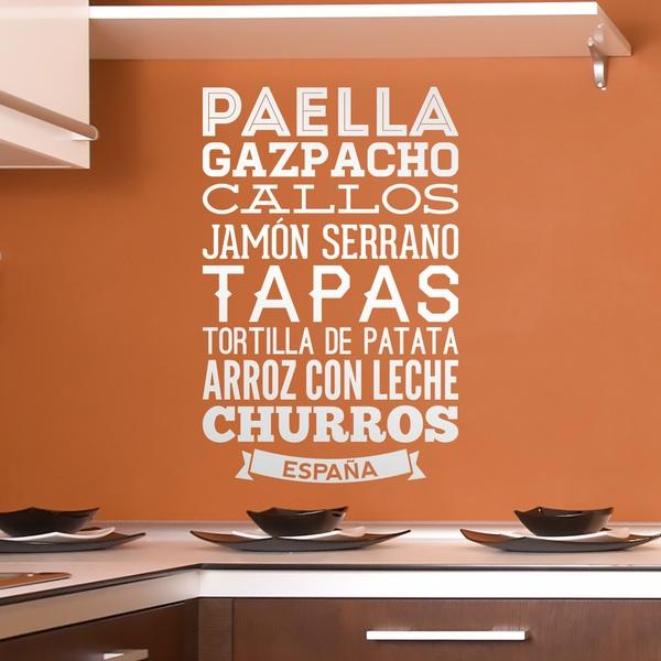 Stickers muraux: Gastronomie de l Espagne