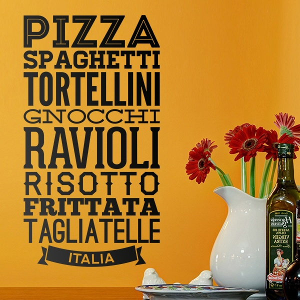 Stickers muraux: Gastronomie d Italie