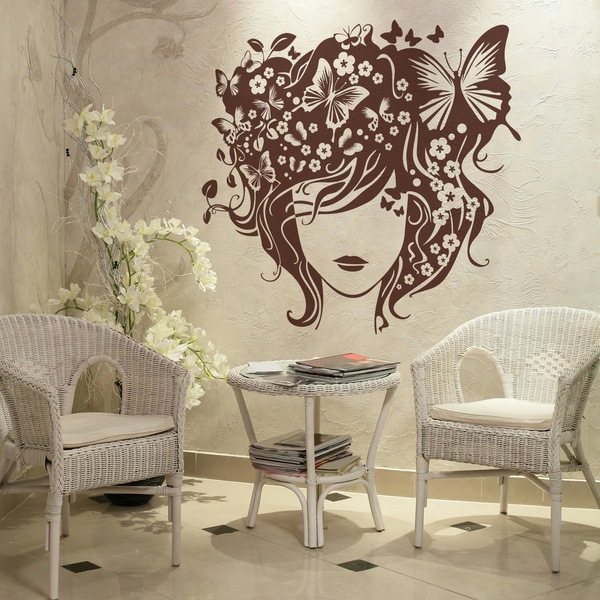 Stickers muraux: Coiffure papillon