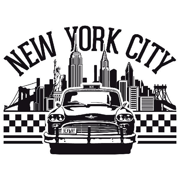 Stickers muraux new york pas cher matelas 2017 - Sticker geant new york ...