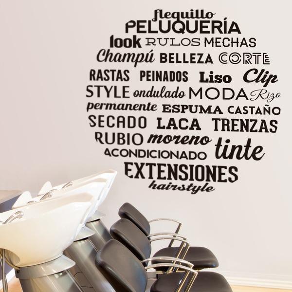 Stickers muraux: Typographique Salon de coiffure