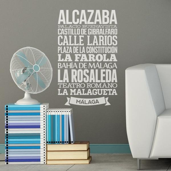 Stickers muraux: Typografic Malaga