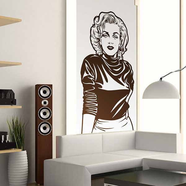 sticker mural marilyn monroe. Black Bedroom Furniture Sets. Home Design Ideas