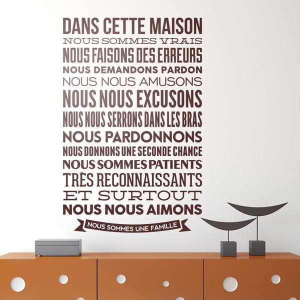 Stickers muraux: Dans cette maison nous sommes vrais