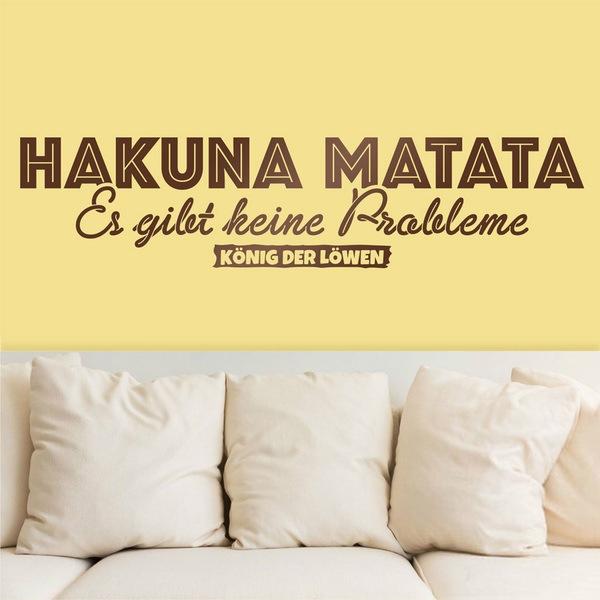Stickers muraux: Hakuna Matata en allemand