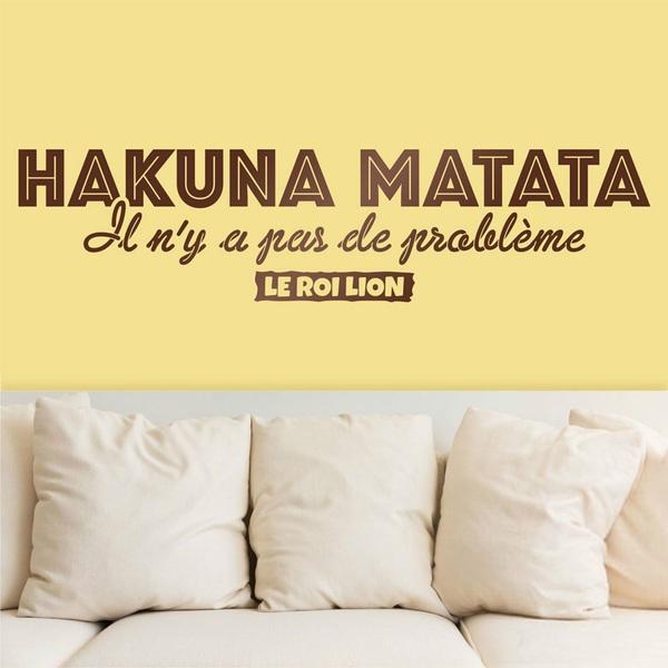 Stickers muraux: Hakuna Matata en français