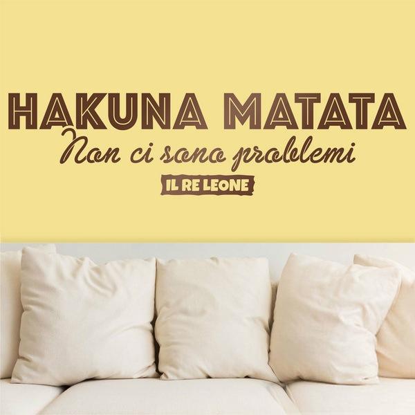 Stickers muraux: Hakuna Matata en italien