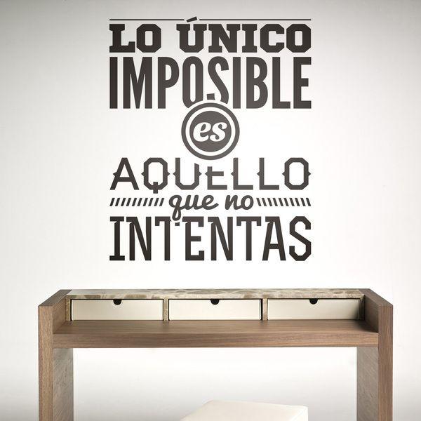 Stickers muraux: Lo único imposible es...