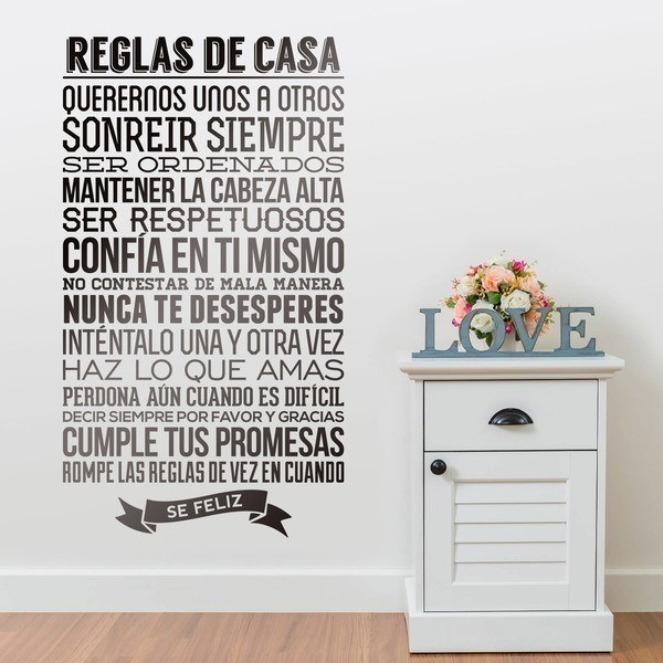 Stickers muraux: Reglas de la Casa