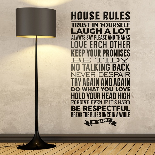 Stickers muraux: House Rules