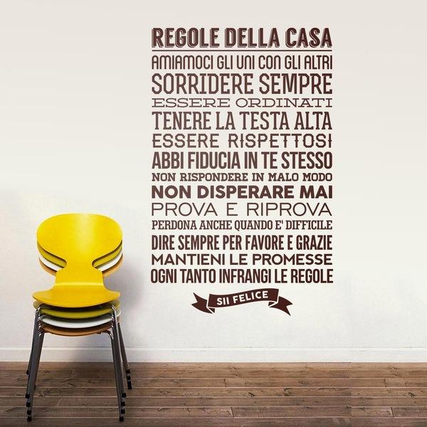Stickers muraux: Regolle della Casa