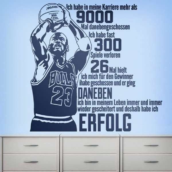 Stickers muraux: Der Erfolg von Michael Jordan
