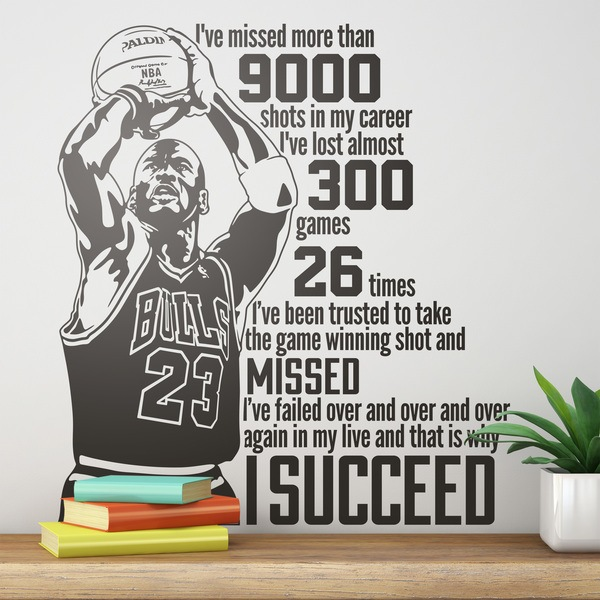 Stickers muraux: The success of Michael Jordan