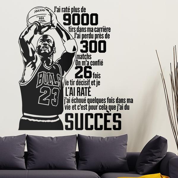 Stickers muraux: Le succès de Michael Jordan