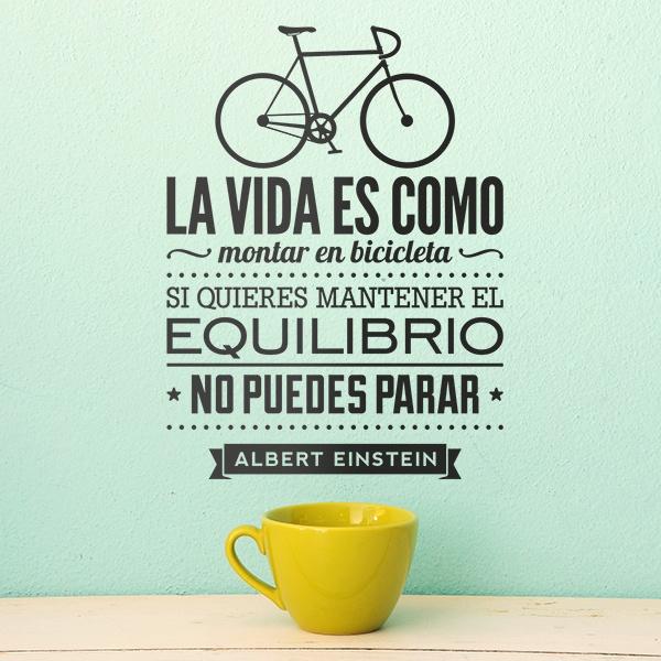 Stickers muraux: La vida es como montar en bicicleta...