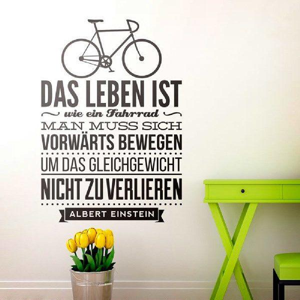 Stickers muraux: Das leben ist wie ein fahrrad...