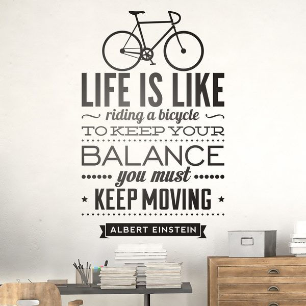 Stickers muraux: Life is like riding a bicycle