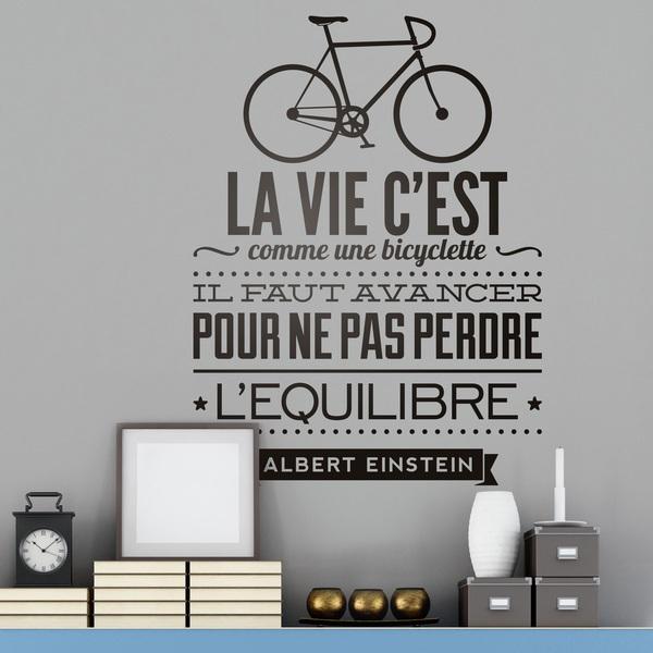 Stickers muraux: La vie c est comme une bicyclette