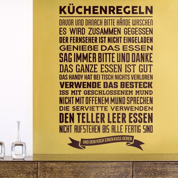 Stickers muraux: Küchenregeln
