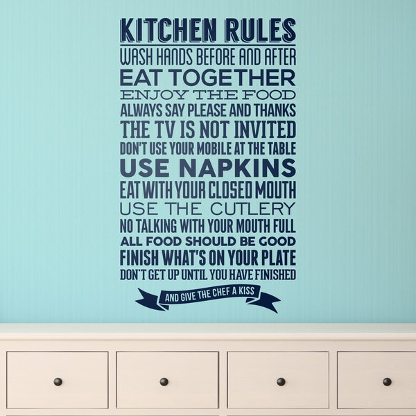 Stickers muraux: Kitchen Rules