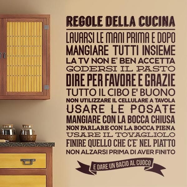 Stickers muraux: Regole de la Cucina