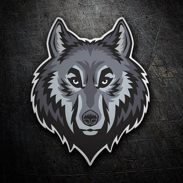 Autocollants: Tête de loup 2