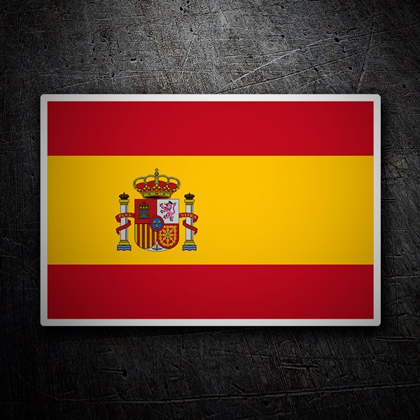 Autocollants: Drapeau Espagne